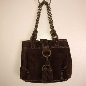 JCrew•Vintage Brown Suede Handbag